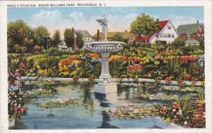 Rhode Island Providence Nock's Fountain Roger Williams Park