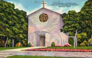 Texas Denton Little Chapel In The Woods Texas State College For Women