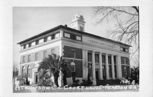 Pearson Georgia Atkinson Court House Real Photo Antique Postcard K69633
