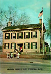 Springfield IL Abraham Lincoln's Home Postcard used (13832)