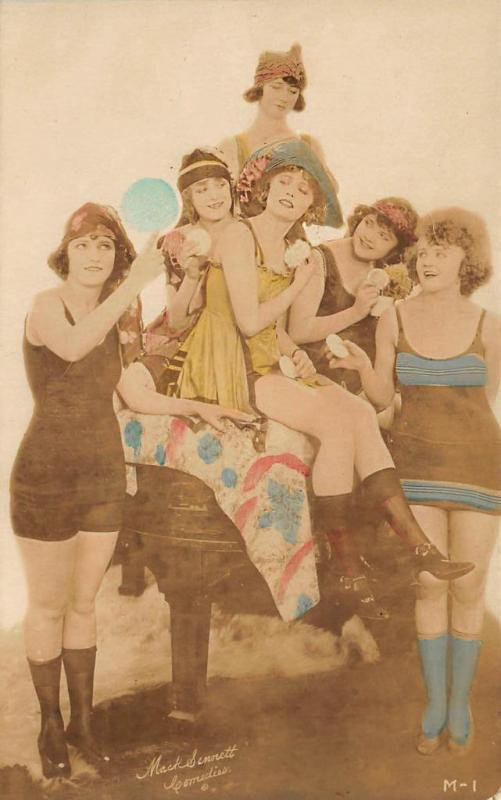 Mack Sennett Comedies Beautiful Woman Real Photo Postcard
