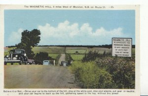 Canada Postcard - The Magnetic Hill - West of Moncton - N.B - Ref 1189A