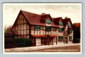 RPPC of Stratford On Avon England, Shakespeare's House, Postcard
