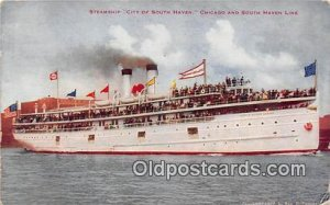 Steamship City of South Haven Chicago & South Haven Line Ship 1910