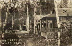 Jackman? Cottages on Wood Pond c1920 Real Photo Postcard