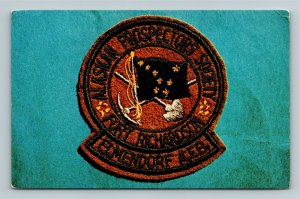 Elmendorf AFB AK-Alaska, Ft. Richardson Prospector Society Patch Chrome Postcard