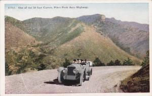 Colorado One Of The 50 Foot Curves Pikes Peak Auto Highway