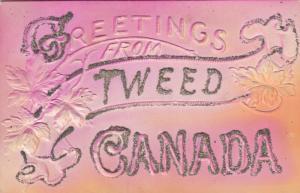 TWEED , Ontario , 1900-10s Embossed greetings
