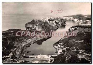 Postcard Modern Bonifacio View Aerienne The City And The Harbor