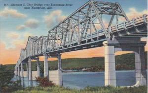 Alabama Huntsville Clement C Clay Bridge Over Tennessee River Curteich