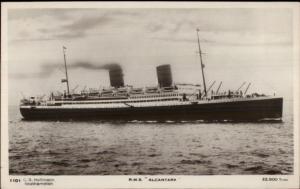 Steamship RMS Alcantara c1920s Real Photo Postcard