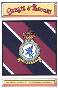 Postcard RAF Royal Air Force No.70 Bomber Transport Squadron Crest Badge No.64