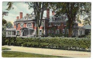 Stockbridge, Mass, Residence of Mrs. John Swann