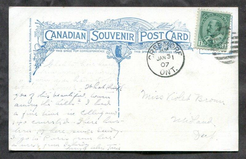 4138 - SHELBURNE Ontario 1920s Church of England. Old Postcard