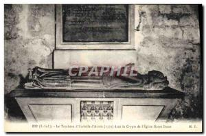 Old Postcard In The tomb of 39Ysabelle & # & # 39Artois in the crypt of Our L...