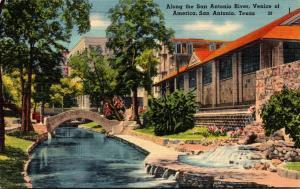 Texas San Antonio Scene Along San Antonio River