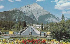 Main Street and Cascade Mountain - Banff AB, Alberta, Canada