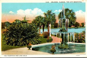 Florida Orlando Lake Eola and The Fountain Curteich
