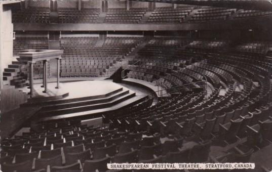 Shakespearean Festival Theatre Interior Stratford Ontario Canada Real Photo
