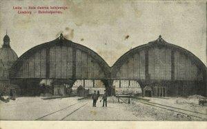 ukraine russia, LVIV LWOW LEMBERG, Railway Station (1915) Postcard