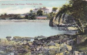 Maine Portland Harbor Shore And Casino Cape Collage 1911