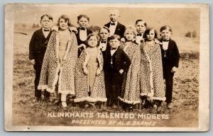 Klinkhart's Talented Midgets~Performers in Capes~Al G Barnes Circus~1922 RPPC