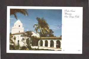 CA Padre Serra Museum Bldg Building San Diego California Postcard