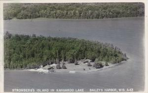 Wisconsin Bailey's Harbor Stromberg's Island Kangaroo Lake Real Photo