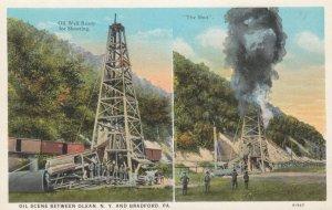 BRADFORD, Pennsylvania, 1910s; Oil Well Ready for Shooting & The Shot