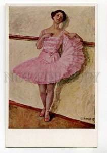 3038019 BALLERINA Dancer in Pink by OTTO SEBALDT vintage PC