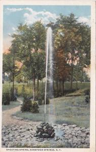 New York Saratoga Springs The Spouting Spring 1919 Curteich