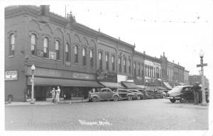 Allegan Michigan~Main Street~Stein & Griswold Clothing~Wise Foods~Cars~1948 RPPC