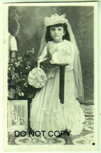 Girl with Little Bible, Dressed up.