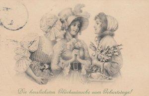 AS; M.M. VIENNE; 1908; Die herzlichsten gluckwunshe zum Geburtstage!