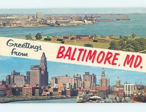 Pre-1980 TWO VIEWS ON CARD Baltimore Maryland MD ho7760