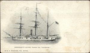 Massachusetts Nautical Training Ship Enterprise 1906 Used Postcard