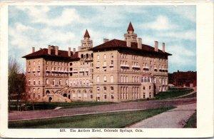 Colorado Springs CO Antlers Hotel Postcard unused 1900s-10s