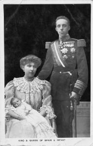 Royalty~King Alphonso XIII Spain~Queen Victoria Eugenie~Baby Son Alphonso~1907
