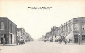 Grants Pass Oregon~6th Street South~Billiards~Josephine Bank~1916 B&W Postcard