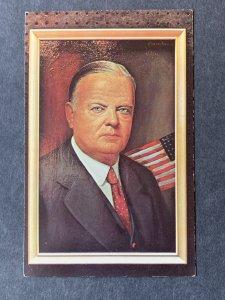 Herbert Clark Hoover By Morris Katz Chrome Postcard H1268083005