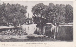 Lake in Public Garden Boston Massachusetts 1906