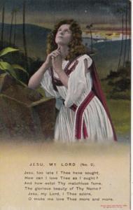 Bamforth Woman Praying Jesu My Lord No 2