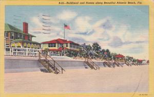 Bulkhead And Home Along Beautiful ATLANTIC BEACH, Florida, PU-1946
