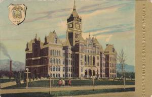 Coat of Arms, Exterior View, The County Building, Salt Lake City, Utah, PU-1912