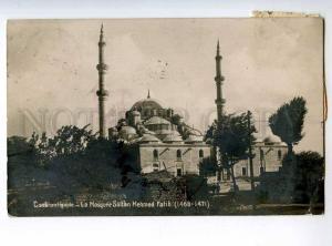 247938 TURKEY CONSTANTINOPLE Mosque Sultan Mehmed photo RPPC