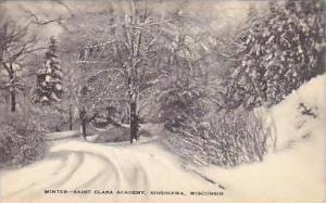Wisconsin Sinsinawa Winter Scene Saint Clara College Artvue