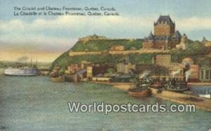 Quebec Canada, du Canada Citadel & Chateau Frontenac, La Citadelle et le Chat...