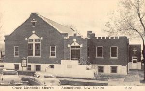 Alamogordo New Mexico Grace Methodist Church Antique Postcard (J29014)