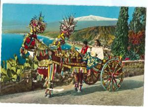 Italy, Carretto siciliano, Sicilian cart, used Postcard