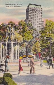 Famous Court Square Memphis Tennessee 1949